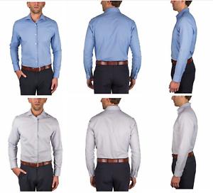 Perry Ellis Portfolio Men/'s Regular Fit Travel Luxe Non-Iron Dress Tech Shirt