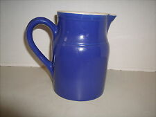 """Vintage Gres pot Digoin France #2 Blue and White Water Jug/Pitcher 6 1/4"""" tall"""