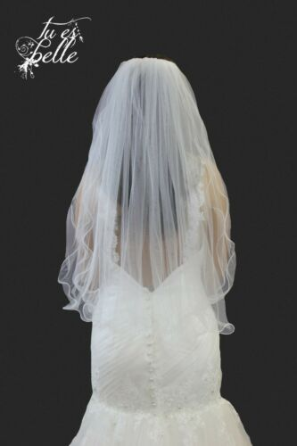 Niveau 2 Taille Longueur Curly Edge Blanc Ivoire Mariage Bridal Veil UK