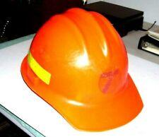 Vintage 80s Ed Bullard Hard Hat Model 3000 Versalyte Cap Withsuspension Orange