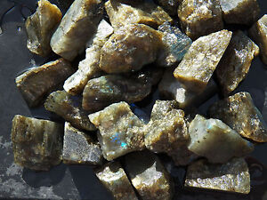 2 lb LABRADORITE Rough TUMBLING ROCK Tumbler Tumble