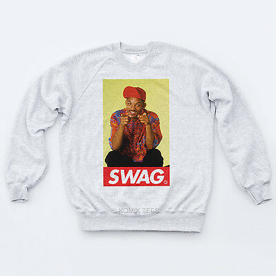 Swag Fresh Prince 90s Sweatshirt Indie Sk8r Will Smith R/&B Hipster Sweat