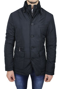 Jacket Mens Quilted Jacket Quilted Winter Blue Slim Fit Jacket New Sartoriale