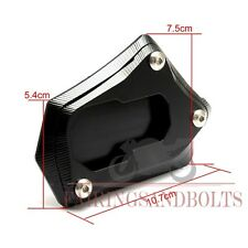 Black CNC Kick Stand Extension Plate For BMW R1200GS R 1200GS 2013-2016 2015
