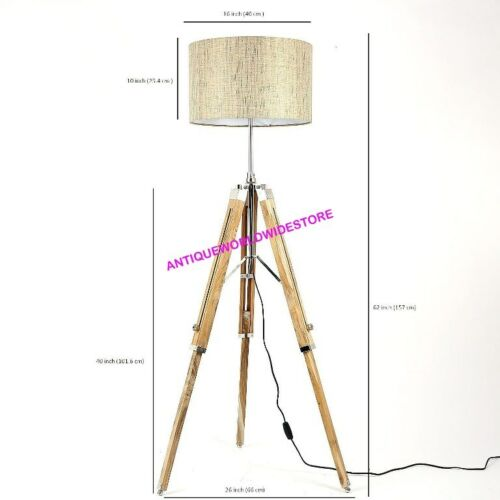 New Design Nautical Wooden Tripod Floor Lamp Stand Home Decorative