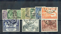 KENYA, TANG AND UGANDA 1922-1949 12 DIFFERENT F-VF USED(INCLUDES UPU SET) $37