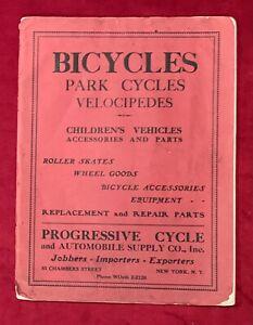 Antique 1930's Progressive Cycle Company of NY Bicycle Bike Parts Catalog BSA
