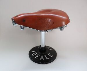 Selle-de-velo-en-cuir-Ideale-Cyclo-Touriste-TB-n-75-French-Design-Neuve