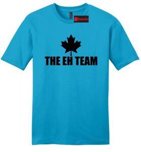 edffce4902f122 The Eh Team Funny Mens Soft Cotton T Shirt Maple Leaf Canadian ...