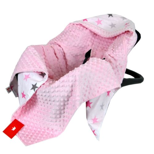 Reversible all season COSYTOES CAR SEAT BABY BLANKET NEW MINKY