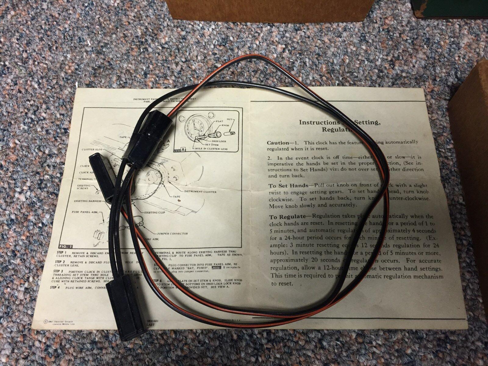 Original Nos Gm Dash Clock 985868 For 1964 Chevelle And Elcamino Wiring Chevy Ebay
