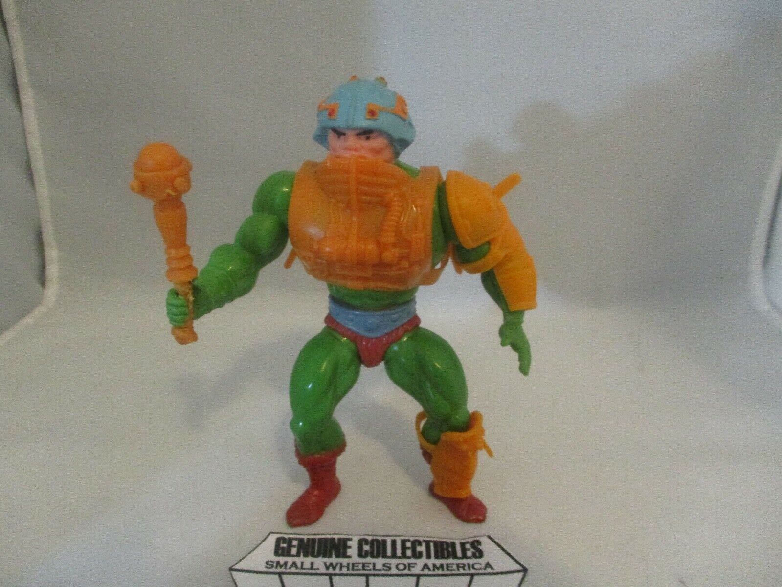 Masters of the Universe Man-At-Arms rosso DOT+Soft Head Version Taiwan Complete
