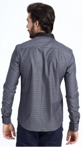 Mish Mash Bates  Charcoal Diamond Shirt £19.99 rrp £50