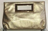 MICHAEL KORS Abendtasche Damen Tasche Clutch Bag Leder Leather Gold