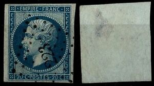 NAPOLEON 12Ba blue from green, Obliterated = Side 200 € / Pack Classic France