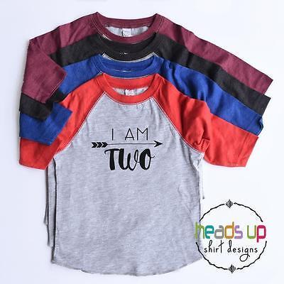 2nd Bday Tee Second Birthday Shirt Toddler Boy//Girl I Am Two Raglan Shirt