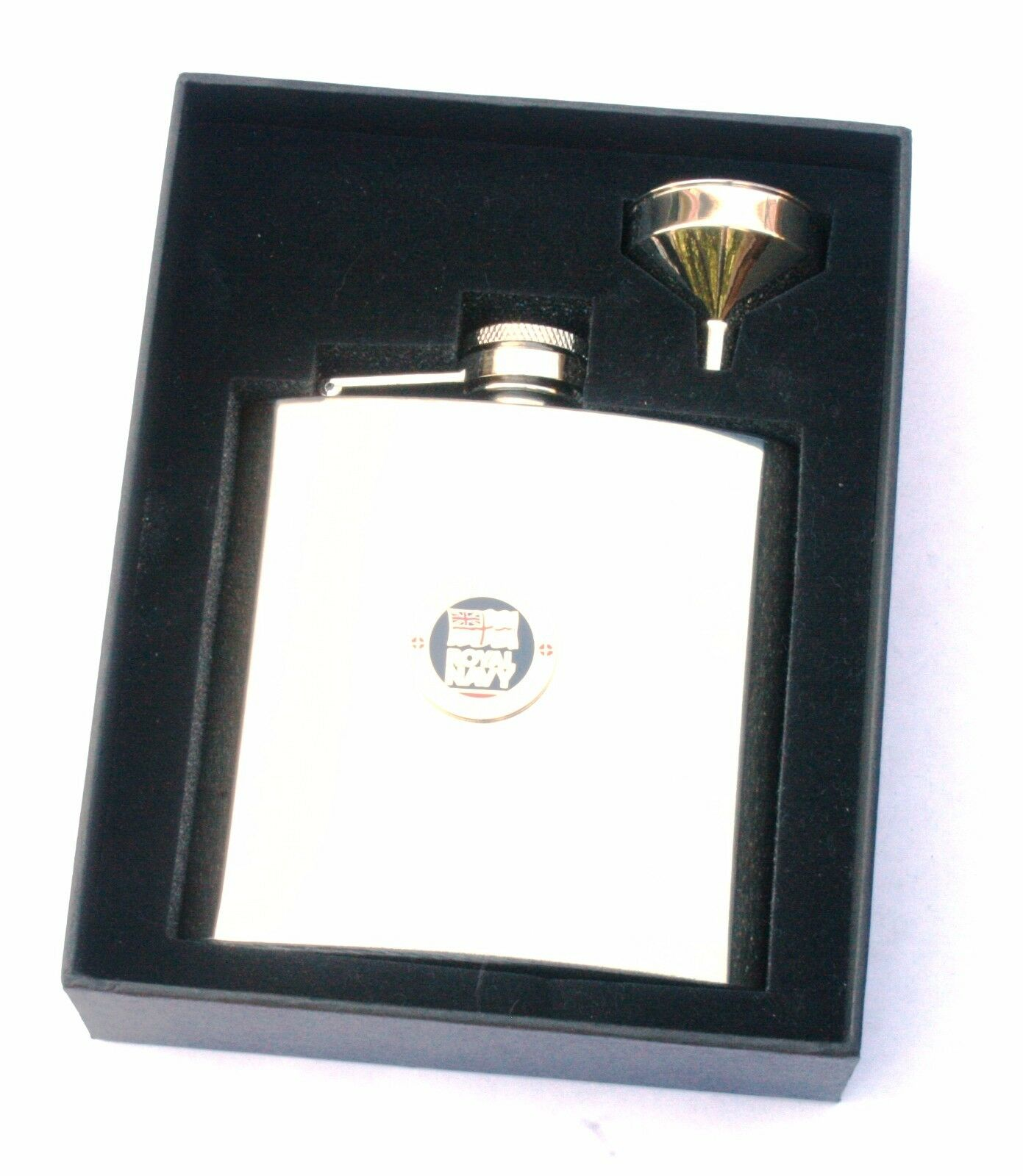 Royal Navy Lest we Forget 6oz Hip Flask Military FREE ENGRAVING Gift Boxed BGK60