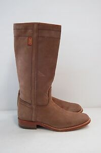 Size-39-Vintage-Ladies-Brown-Riding-Western-Cowgirl-Leather-high-boots
