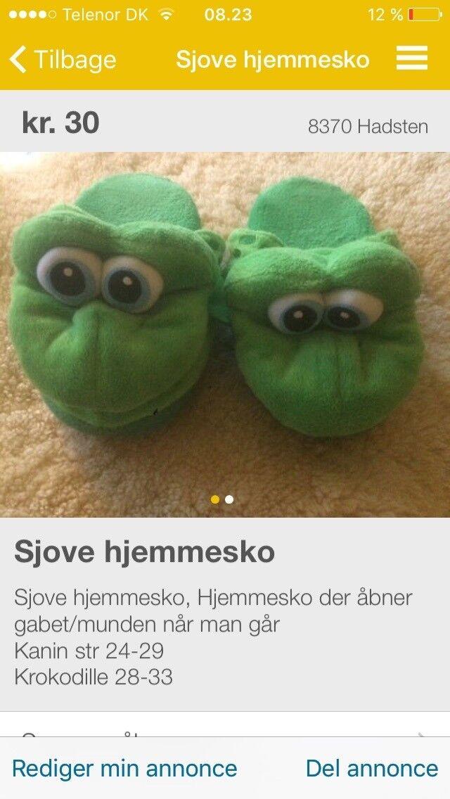 a1e2147e700 Hjemmesko, str. 30, Krokodille – dba.dk – Køb og Salg af Nyt og Brugt
