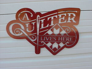 A-Quilter-Lives-Here-Red-Metal-24-034-x-16-034-approx-Barn-Quilt-Block-Sign