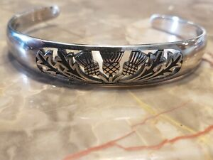 Field-Of-Thistle-Scottish-Thistle-Cuff-bracelet-Scotland-Highland-Cuff