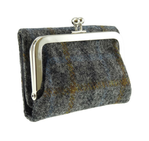 Ladies Harris Tweed Purse With Fold Over Wallet Available In 7 Colour LB2004