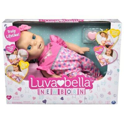 Luvabella Newborn Blonde Interactive Baby Doll Play Girl Baby Dolly Xmas New Toy
