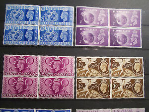 4 x GB 1948 Commemorative Stamps~Olympic Games~Unmounted Mint~UK seller