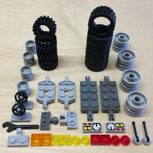 NEW LEGO VEHICLE TIRE LOT 24x14 21x12 Road Race Car City Wheels Axles Parts