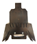 """3//8/""""AR500 Steel Shooting Target 7x12 IDPA Metal Ground Stand for 3//4/""""EMT Conduit"""