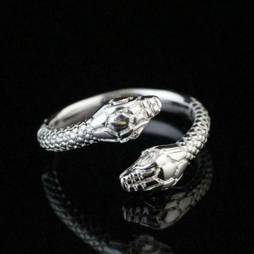 Solid Sterling Silver Plated Women//Men Fashion Serpentine Size Gifts Open R Z9J5