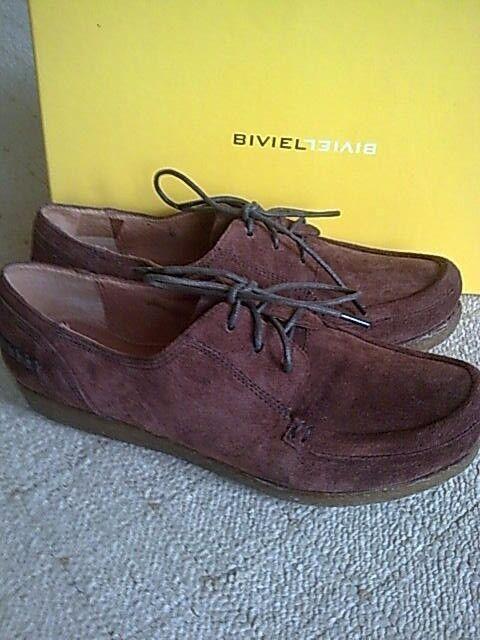 NEU BIVIEL  Schuhe Gr 36 UK 3,5 weiches echtleder wildleder braun