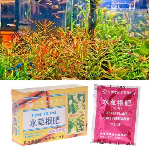 1 Box Aquarium Water Plant Root Fertilizer Tablets Nutrtion 80 Aquatic Fish Tank