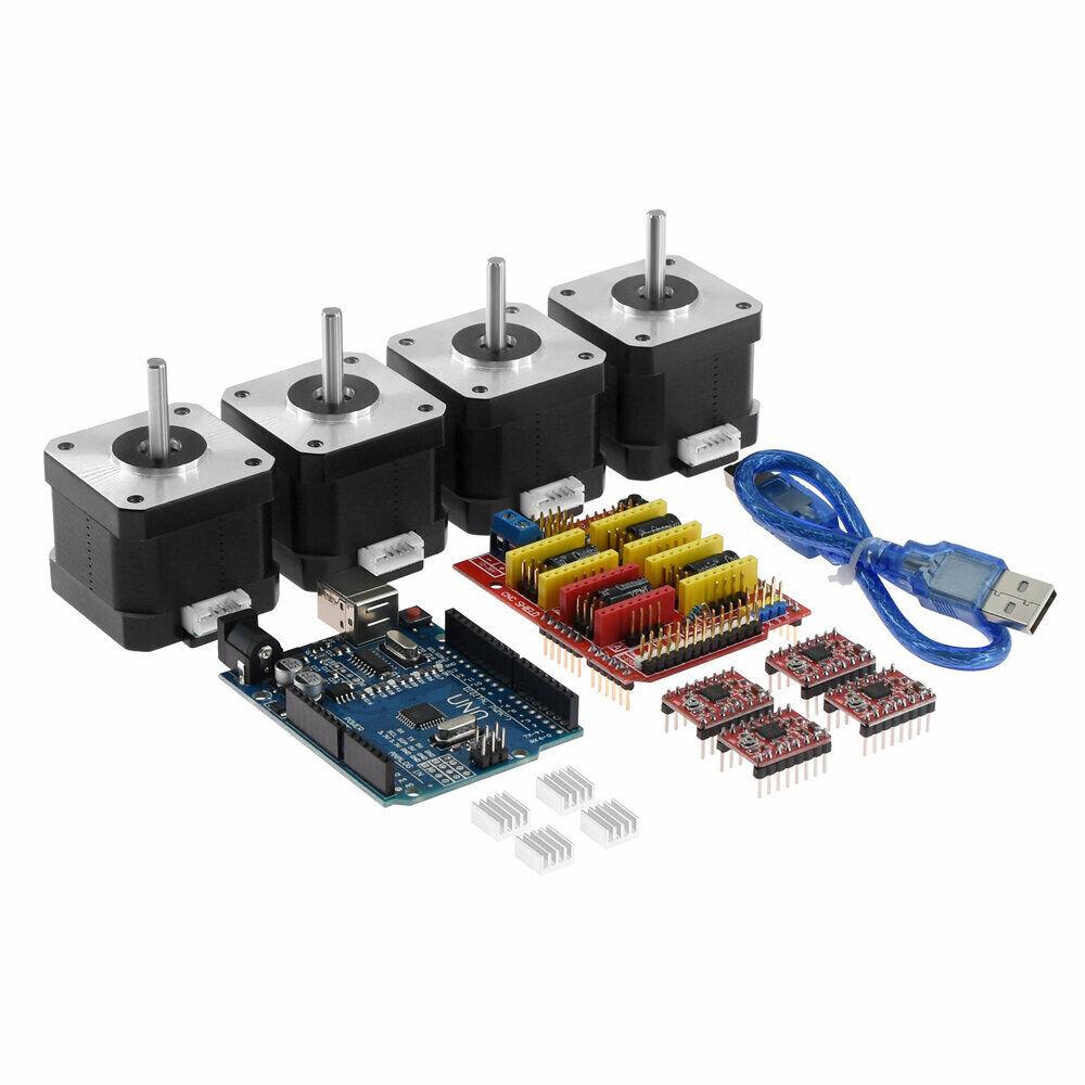 Stepper Motor Driver CNC Shield + UNO R3 Board A4988 +4x 4401