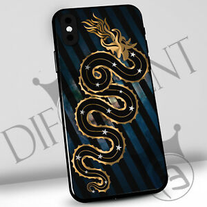 Dettagli su Cover inter iphone,samsung,huawei, custodia tifosi nerazzurri, biscione gold
