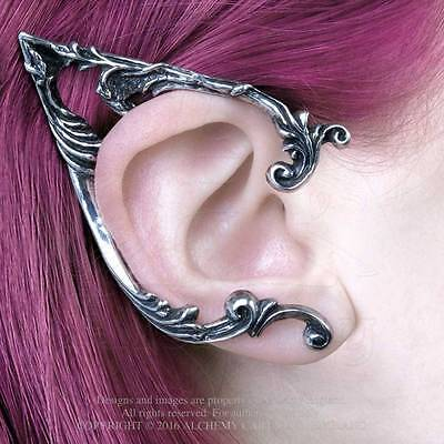 PAIR of ALCHEMY GOTHIC Arboreus Left + Right ear earrings elf pointed ears NEW