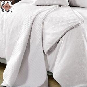 Linge De Maison Ebay.Celeste White Jacquard Coverlet Set Or Square Cushion By
