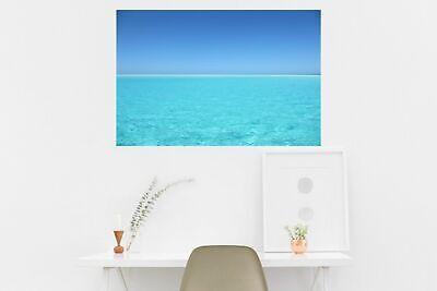 Huge 3D Window View Beach Ocean Sea Sun Island Wall Sticker Poster M1--172