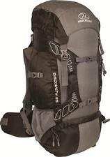 Highlander Discovery Black/Grey 65 Litre Rucksack, Hiking, D of E,Camping