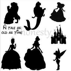 2PCS-Belle-Princess-Castle-Mermaid-Sticker-Vinyl-Decal-Car-Window-Wall-Decor