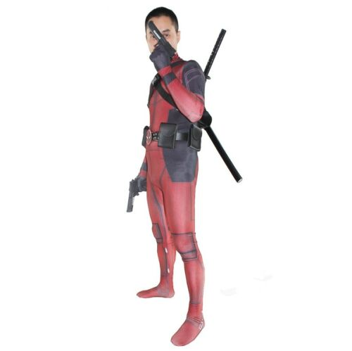 Mask Deadpool Costume Adults Kids Cosplay Tights Jumpsuit Accessories Full Set