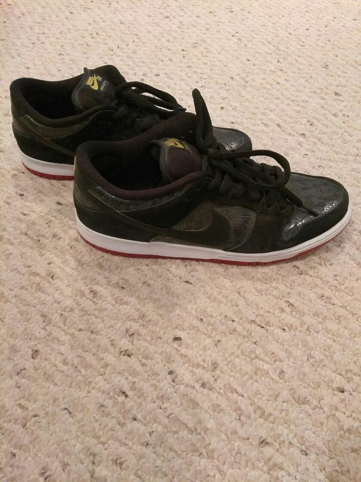 Nike Dunk Low Premium SB Snake Eyes 313170-017 Size 12 Men's