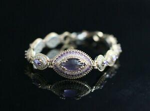 Turkish Handmade Jewelry 925 Sterling Silver Amethyst Stone Women Bracelet