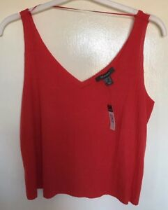 514f9fc3651cf9 Image is loading Ladies-Primark-Bright-Red-Cropped-Vest-Top-Size-