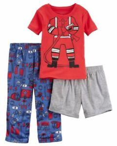 08e664f40680a Carters Toddler Boys 3 Piece Fireman Pajamas 18 Mo Short Sleeves ...