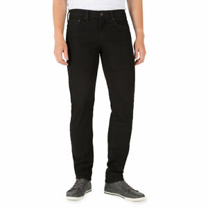 Signature-By-Levi-Strauss-amp-Co-Gold-Label-Mens-Gothic-Black-Skinny-Denim-Jeans