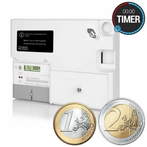 Emlite Electric Euro Operated Timer Meter Sunbed Snooker Dryer Washing AC