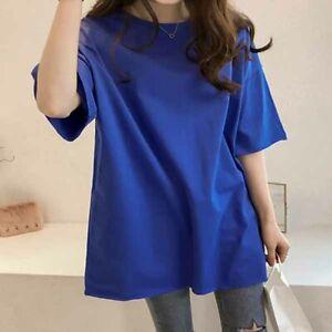 Fashion-Shirt-Short-Sleeve-Solid-Ladies-Summer-Loose-Women-Blouse-Top-T-shirt