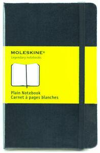 Moleskine-Plain-Notebook-Black-Hard-Cover-Pocket-9x14cm-3-1-2x5-1-2-034-Acid-Free