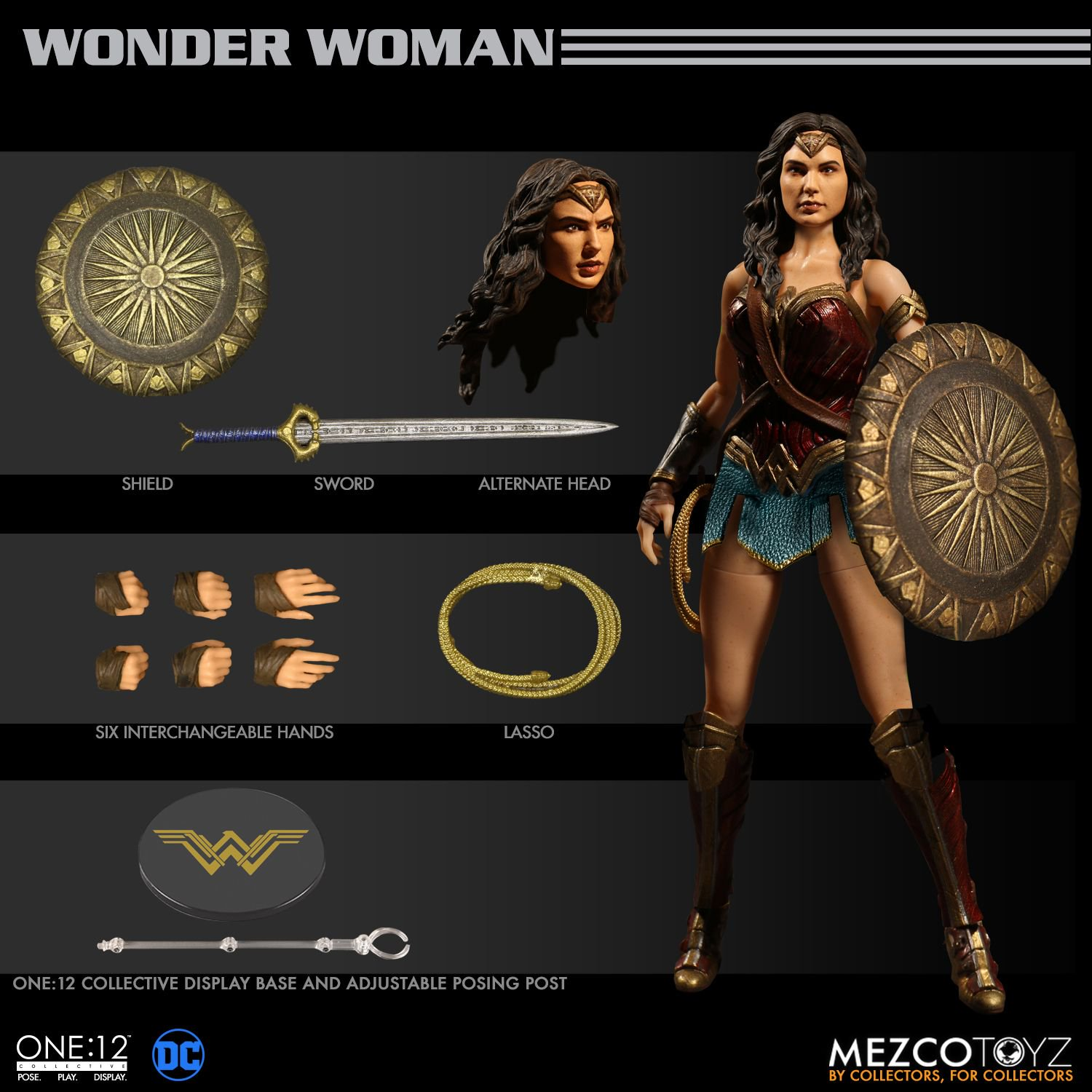 One 12 Collective Wonder Woman 1 12 Scale FIGURE Mezco IN STOCK